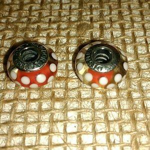 Pandora Jewelry - Pandora's set of 5 Minnie/Mickey Murano Beads